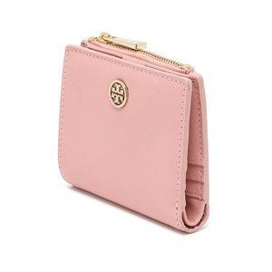 tory burch pink robinson wallet